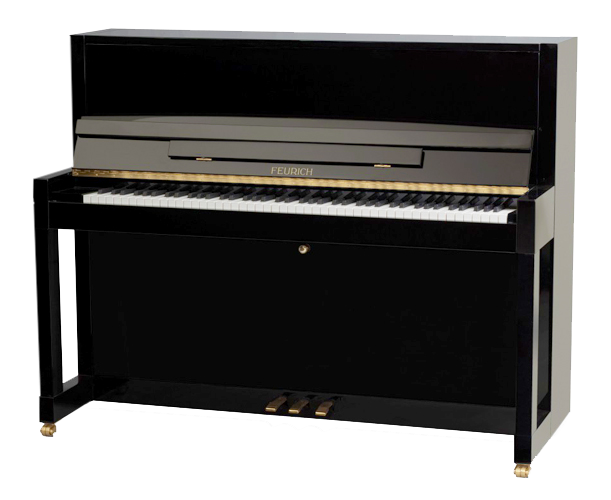 Feurich pianos for sale at besbrode pianos showroom for Small piano dimensions