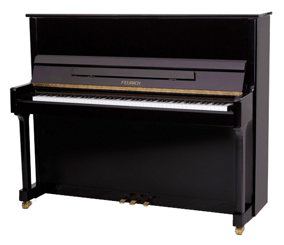 Feurich model 122 Universal upright piano. The award-winning best-seller. A vivacious and strong tone enough to overshadow many baby grands