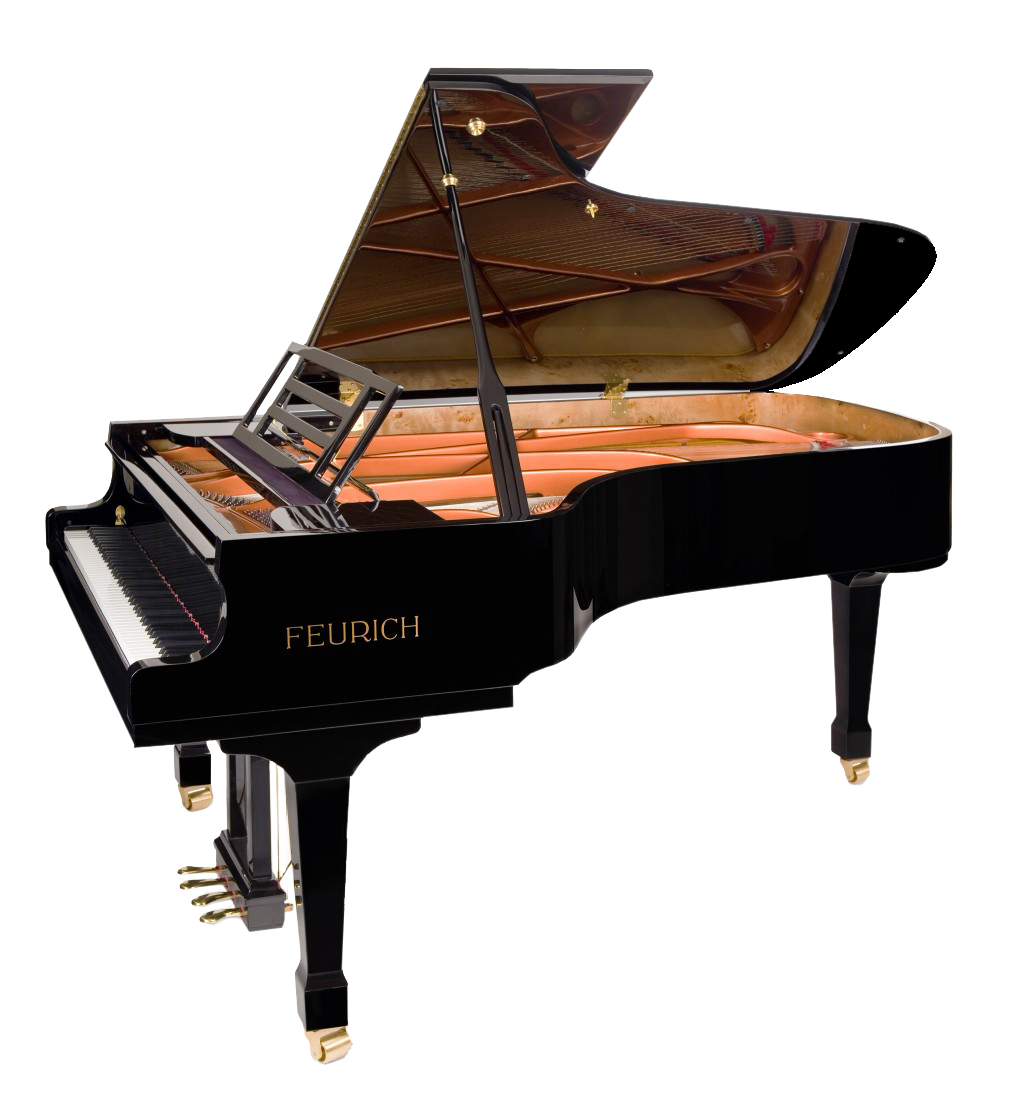 Feurich pianos for sale at besbrode pianos showroom for What size is a grand piano