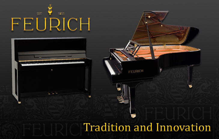 The Feurich Range of Pianos.