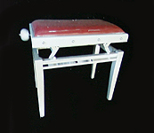 Gary Pons Standard, Adjustable, Aluminium Piano Stool with a  Velours Cover and Decorations