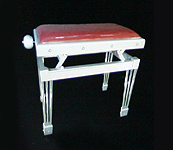 Gary Pons Stteel Concert Legs, Adjustable, Aluminium Piano Stool with a  Velours Cover
