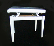 Gary Pons Standard, Adjustable, Aluminium Piano Stool with a  Velours Cover