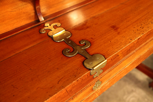 Bechstein Upright Piano Ornate, Brass Hinges