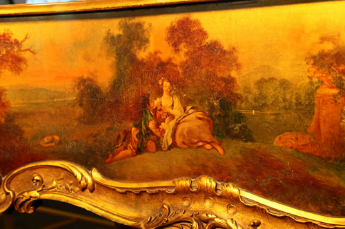 Detail of  Oil Painting Featuring Lovers Reclining in the Fields