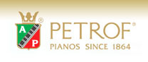 petrof manufacturers logo