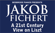 Jakob Fichert: A 21st Century View on Liszt. Jakob Fichert, pianist, pedagogue, examiner and lecturer will premier his eclectic works 'A 21st century view on Liszt' in one of Leeds most intimate venues, Besbrode Pianos Steinway showroom on Sunday, 14th April 2019, 14:30pm. Revered for his revolutionary approach to piano technique, Liszt was equally innovative as a composer, inspiring the likes of Ravel, Bartok and Ligeti. Liszt's music keeps influencing the composers of today, and the popularity of his piano works continues to soar. This event therefore aims to explore the impact Liszt's writing has on music written in the 21st century.