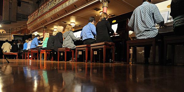 Huddersfield Contemporary Music Festival. Kristoffer Zegers Piano Phasing