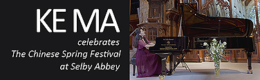 Ke Ma Celebrates The Chinese Spring Festival at Selby Abbey. Ke Ma's performance includes a combination popular Chinese folk and pop tunes and the classical behemoth, Ravel's Gaspard de la Nuit suite. Based on three poems by Aloysius Bertrand, this suite includes the legendary 'Scarbo', considered one of the most difficult solo piano pieces in the standard repertoire.