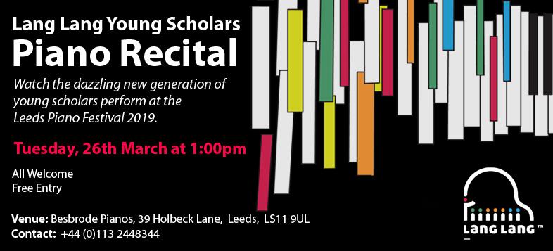 Lang Lang Young Scholars Piano Recital 26th March 2019 at 13
