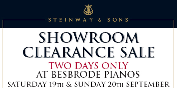 Steinway Showroom Clearance Sale