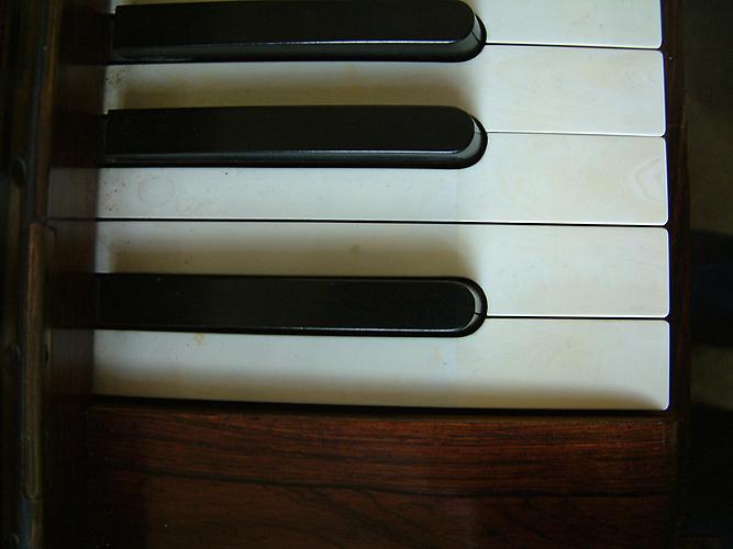 Collard & Collard piano keyboard detail