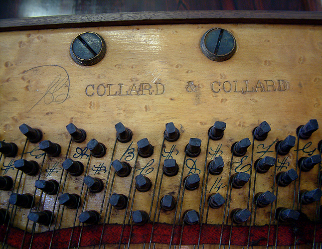Collard and Collard stamp on pinblock