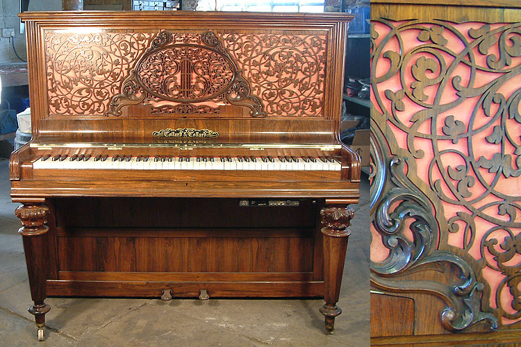 Antique Collard & Collard upright piano with PianoDisc QuietTime GT-2 system
