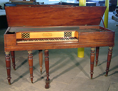Antique Nutting Square Piano For Sale