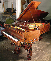 Ornate Steinway Model C Grand piano for sale with exquisite carvings on case