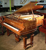 Inlaid Adams style Brinsmead Grand Piano. Inlaid with swags.