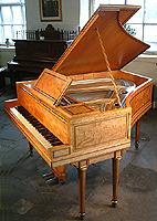 Inlaid Broadwood Grand Piano. Inlaid with box wood stringing.