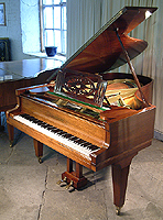 A Restored, Grotrian Steinweg Model 185 Grand Piano For Sale with a Rosewood Case and Tapered Square Legs