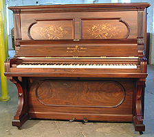 Restored, Inlaid Steinway  Upright  Piano For Sale