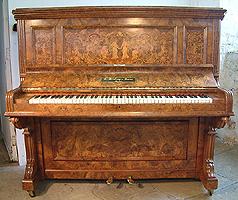 Artcased, Inlaid Bishop Upright piano