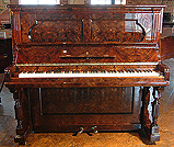 Restored, Burr Walnut Steinway Upright  Piano For Sale