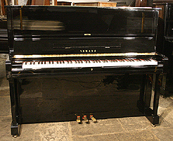 Modern Yamaha U1 Upright Piano For Sale