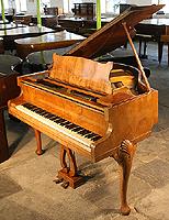 Walnut Strohbech Grand Piano For Sale