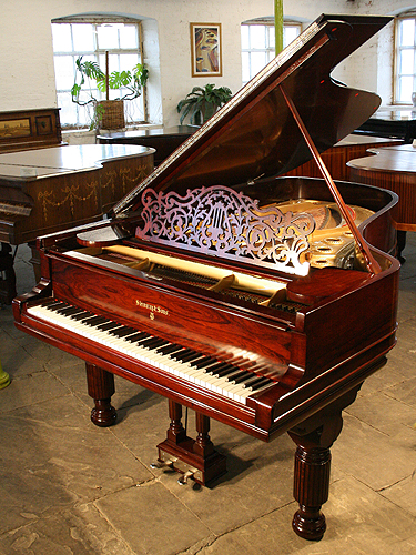 Besbrode Pianos is an  Official Steinway & Sons Appointed Dealer.Antique, Steinway Model B Grand Piano For Sale with a rosewood case