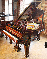 Inlaid Steinway grand piano for sale.