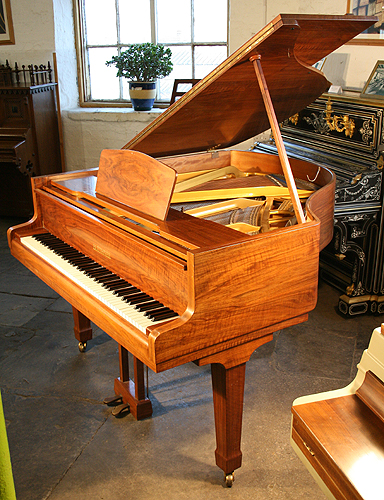 Walnut Bluthner grand Piano for sale.