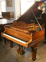 Antique Steinway Model A Grand Piano For Sale with a rosewood case