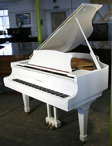 White Kawai Kg1e Baby Grand Piano For Sale Specialist