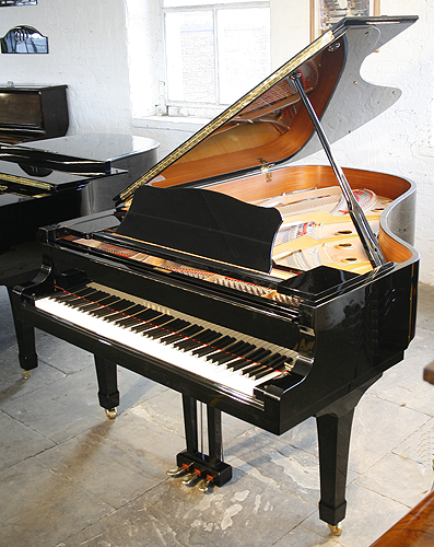 Black yamaha c6 grand piano for sale specialist steinway for Yamaha grand pianos for sale