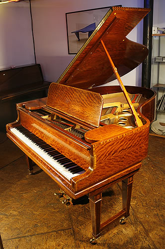 Antique satinwood steinway model o grand piano for sale for Big grand piano