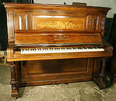 Antique, Steinway Upright  Piano For Sale with an Inlaid Case