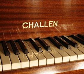 Challen Baby Grand Piano For Sale With A Mahogany Case