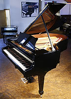 New Steinway Model O grand piano For Sale with a black case and polyester finish