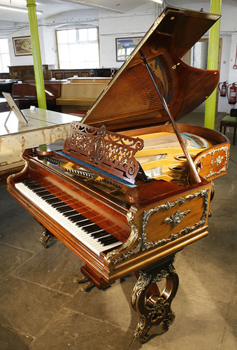 Ornate, Bechstein  grand Piano for sale  with a  rosewood case and  Brass Ormulu Mounts.