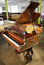 An antique Bechstein grand piano with a rosewood case and Brass Ormulu Mounts. Instrument has been restored. This Bechstein piano formerly belonged to William Whitelaw, Home Secretary under Margaret Thatcher.