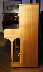 Steinway Model V Upright Piano for sale with a walnut case.