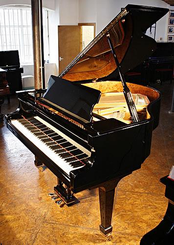 Fazioli F156 baby grand Piano for sale with a black case.