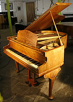 Monington and Weston Baby Grand Grand Piano with a Queen Anne style walnut case