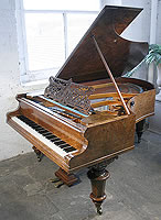 Bechstein Model V grand piano for sale with a burr walnut case