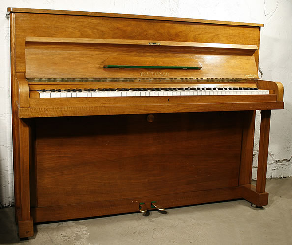 Bluthner Upright Piano For Sale With A Walnut Case