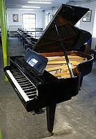 Grotrian Steinweg 189 Grand Piano  with a black case and polyester finish