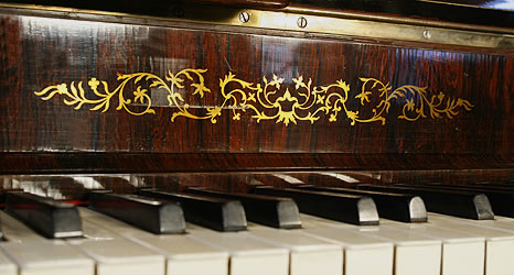 Klein Lyre piano inlaid detail