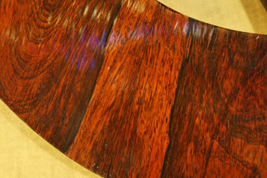 Klein Lyre piano wood grain detail