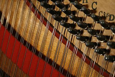 Restrung Klein lyre piano