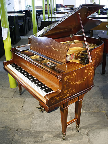 Inlaid Schiedmayer grand Piano for sale.